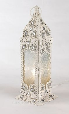 Pretty Factory-outlet Moroccan Bejewelled Hanging Tealight/Tea Light Candle Holder Lantern NS-124023