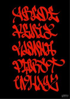 Graffiti Letters: 61 graffiti artists share their styles Graffiti Alphabet Styles, Graffiti Lettering Alphabet, Graffiti Text, Tattoo Fonts Alphabet, Gothic Lettering, Chicano Lettering, Graffiti Drawing, Typography Letters, Graffiti Artists