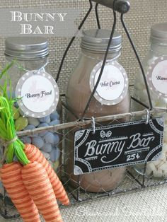 Easter hot chocolate bar.  This is so cute!