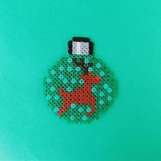 Christmas ball perler beads by pysslart