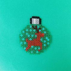 Christmas ball perler beads by pysslart