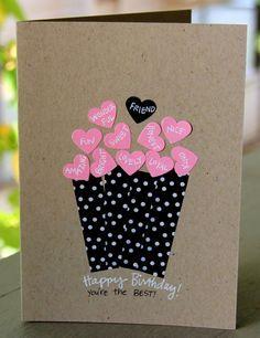 Geburtstagskarte für eine Freundin selber basteln mit Washi Tape