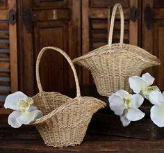 Natural Wicker Princess Baskets
