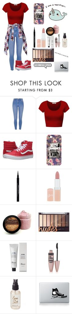 """""""Untitled #486"""" by xglitterxbombx ❤ liked on Polyvore featuring River Island, DK, Vans, Givenchy, Rimmel, Baxter of California, Maybelline and Olivine"""