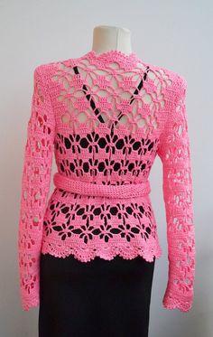 Crochet bolero de novia chaqueta de encaje bolero de novia Chaleco  Ganchillo 2122459beb91d
