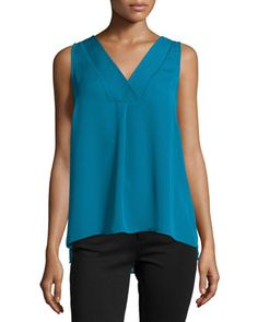 Sleeveless+Double-Layer+Top,+Moroccan+Blue+by+Laundry+by+Shelli+Segal+at+Neiman+Marcus+Last+Call.