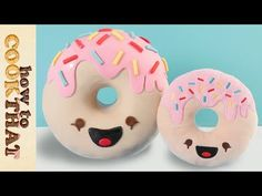 Kawaii Donut Cake How To Cookss That Ann Reardon Creative Desserts, Creative Cakes, 3d Cake Tutorial, Cake Templates, Cake Youtube, Cake Decorating Tutorials, Yummy Snacks, Love Food, Donuts