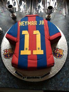 Neymar jnr birthday cake. FC Barcelona