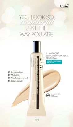 [KLAIR'S] Illuminating Supple Blemish Cream 'You look so wonderful just the way you are.' [3 Multi-functional cosmetic] + Sun protection + Whitening + Wrinkle improvement + Sebum control Brand : Klair's All skin Types Volume: 40ml Made in Korea by $22.99