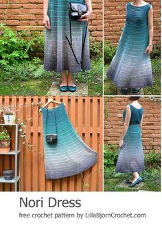 LillaBjörn's Crochet World: NORI Dress: FREE crochet pattern in sizes S-3X and rated beginner.
