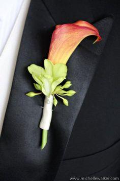 Wedding flowers for him ~