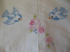Vintage Bluebird Cross Stitch and embroidery