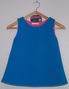 Robe Juliette modèle reversible rose/bleu taille 3 ans : Mode filles par fairydesfolies