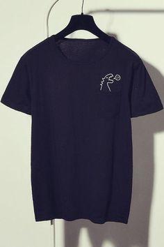 Dinosaur Patterned Print Loose Fit Basic Tee - Fandom Shirts - Ideas of Fandom Shirts - I like this. Do you think I should buy it? Geek Shirts, Funny Shirts, Blusas T Shirts, Dinosaur Shirt, Dinosaur Dinosaur, Dinosaur Pattern, Shirt Embroidery, Mode Inspiration, Diy Clothes
