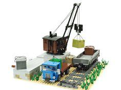 Even old machinery can serve long when treated properly [Video] Train Lego, Lego Train Station, Lego Vintage, Lego Crane, Construction Lego, Lego Ship, Lego System, Cool Lego Creations, Lego Bionicle