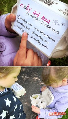Scavenger Hunt ~ Collect your finds in an empty egg carton!