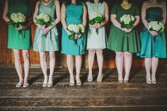 I like the idea of letting my bridesmaids picking their own dresses.. As long as they're navy! And have matching nude flats!