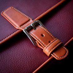 Bespoke messenger bag.. detail