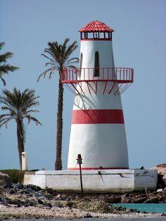 Al Futaisi Lighthouse is located on Al Futaisi Island eight kilometres southwest of Abu Dhabi in the UAE.