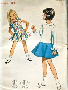 vintage 60's Butterick 4288 Girls dress UNCUT size by monicacarmel