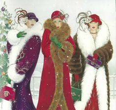 art deco christmas cards - Google Search