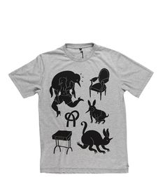 rockwell by parra t-shirt instinct €35.00 heather grey