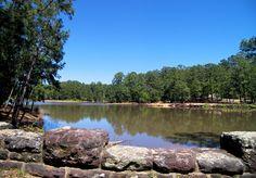 BASTROP STATE PARK ($17/night, 8ppl/max, cabins, trails, swimming pool, canoe rental) 2.5hr SE of austin