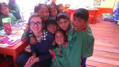 Our #volunteer Louisa in the #Kindergarten where she is volunteering