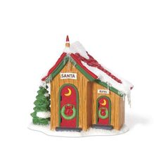 Up North Outhouse, Accessories, North Pole Village, Christmas Villages, 4in  X  2.25in  X  3.75in