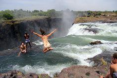 Victoria Falls' Devil's Pool, Livingstone Island, Zambia
