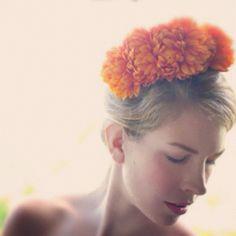 """""""#hairphotoaday 8. My fave hair accessory - my DIY floral headband http://www.hairromance.com/2012/01/hair-accessory-diy-floral-headband.html"""""""
