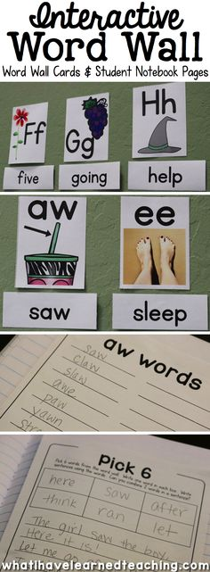 Finally an Interactive Word Wall can be customized for your classroom and is prefect for Interactive Notebooks. Includes: Word Wall Labels (ABC & Phonics Patterns), 436 Word Cards, Student Notebook Pages in both Regular and Primary Lines.