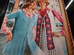 Crochet and Knitting Pattern Women Girls Cardigan Jacket DK Vintage by CraftybyLulu on Etsy