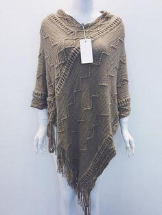 Shop Khaki V Neck Tassel Poncho online. SheIn offers Khaki V Neck Tassel Poncho & more to fit your fashionable needs.