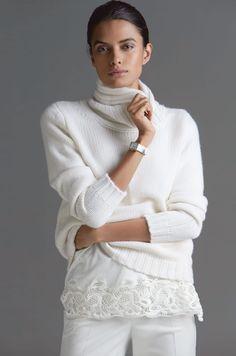 Madeleine Wool White Cashmere Sweater