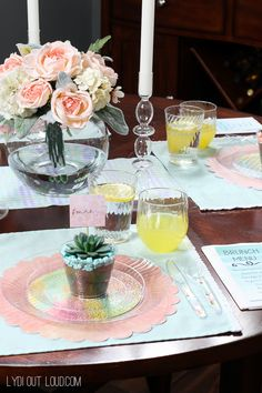 Beautiful Spring Brunch Tablescape - perfect for Easter! @mychinet #MyChinetParty #ad