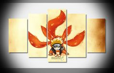 P3027 Naruto Chibi tails Poster home decor stretched framed canvas print art HOT #PRO #ArtDeco