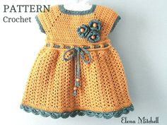 Crochet PATTERN Baby Dress Baby Girl Pattern Crochet Newborn