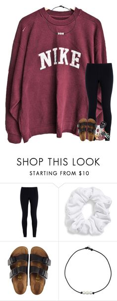 """""""When you thought you were over someone but your not """" by tjrsis ❤ liked on Polyvore featuring NIKE, Natasha and Birkenstock"""