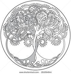Vector Tree Of Life Emblem - stock vector