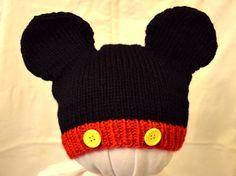 Mickey Mouse Hat Knitting Pattern on Ravelry