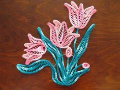 Romanian Point Lace crochet flowers