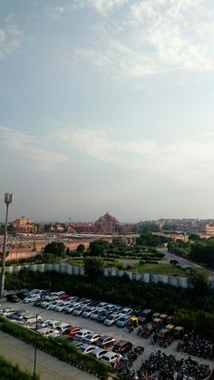 Akshardham Temple view from metro station