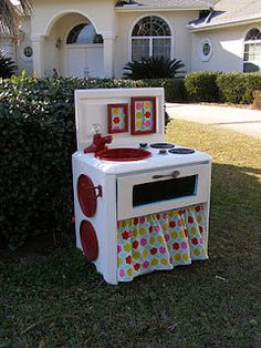 white and red kid kitchen