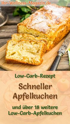 Schneller, einfacher Low-Carb-Apfelkuchen – Rezept ohne Zucker Fast, easy apple pie: low-carb recipe for a healthy lightning cake with apples, no sugar, with almond flour and yogurt calorie-reduced and juicy delicious … Cake sponge cake # – Protein Desserts, Healthy Protein, Protein Foods, Low Carb Desserts, Low Carb Recipes, Low Carb Apple Pie Recipe, Apple Pie Recipes, Shake Recipes, Best Protein Shakes