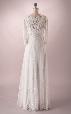 Wedding Gown of embroidered tulle with by MartinMcCreaCouture
