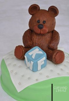 Bear Baby Shower Cake  Cake by Cup & Cakes