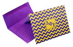 Delta Phi Epsilon Chevron Note Cards w/ Envelopes (10) from GreekGear.com
