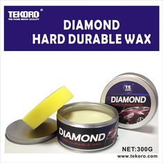 Skype: yaya10203 E-mail: nicola@tekoro.com Tekoro Diamond hard durable wax is made from imported natural carnauba and special polymer resin materials, in addition of special polish wax, it can renew tiny scratches and bad stains on carbody. Form a bright and lasting protection film like diamond after use. It has functions of gazing, waterproof, anti-fouling and anti-ultraviolet. Multiple protections after one operation and it is suitable for different colors of cars.