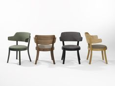 The new seley armchair (design: Frédéric Dedelley, 2019) is a small, handy and very comfortable lounge chair that horgenglarus offers in many material and colour versions. In oak, walnut or dark colours it looks very elegant and descreet. It is available with and without back padding. Dark Colors, Colours, Sweet Home, Design Studio, Armchair, Dining Chairs, Furniture, Interiordesign, Home Decor